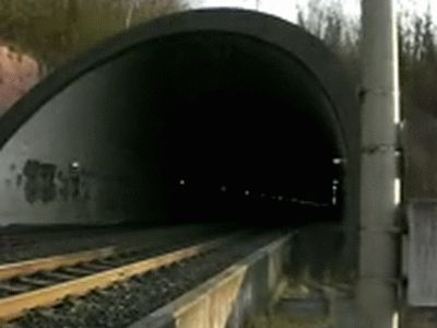 Nordportal des Sinnberg-Tunnels (Foto aus Video von David Kolb)